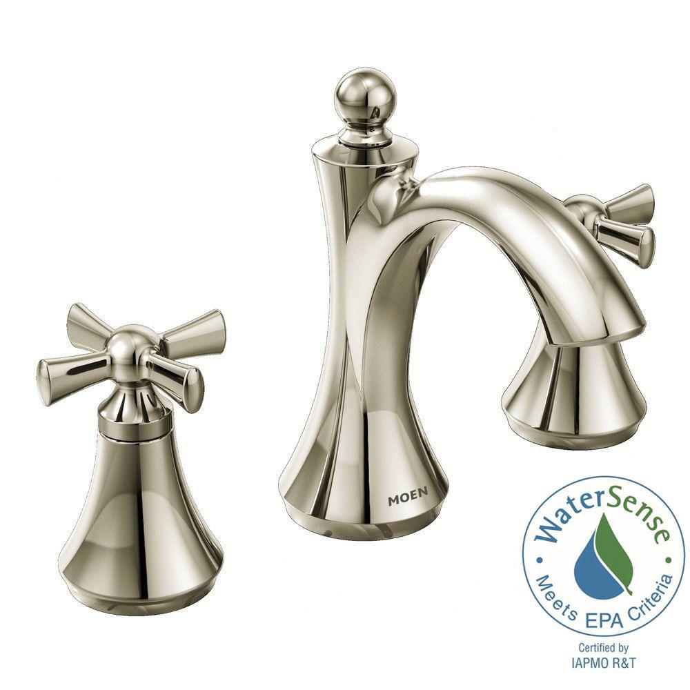 Wynford 8 in. Widespread 2-Handle High-Arc Bathroom Faucet in Polished Nickel