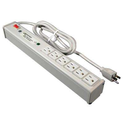 Sentrex 6-Outlet 15-Amp Premium Grade Surge Strip with On/Off Switch, 6 ft. Cord