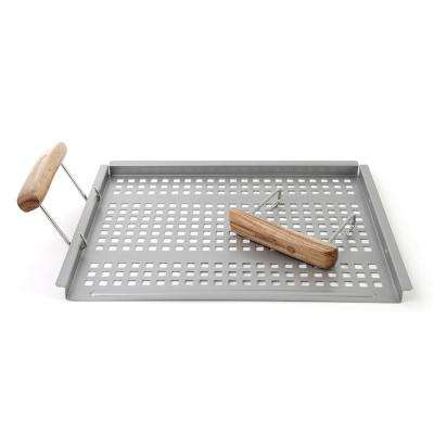 BBQ Grab and Grill Flat Grill Tray
