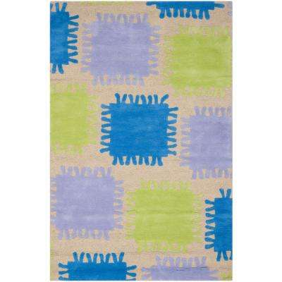 Kids Beige/Multi 5 ft. x 8 ft. Area Rug