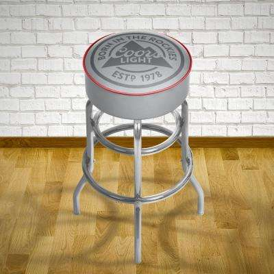 Coors Light 31 in. Chrome Padded Swivel Bar Stool
