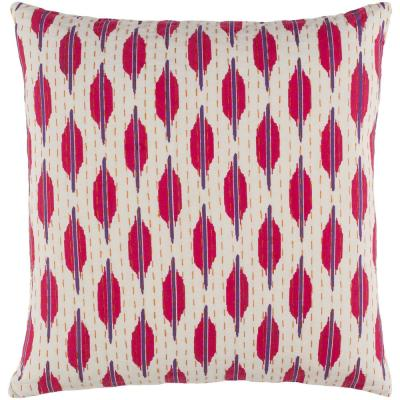 Stedham Purple Graphic Polyester 20 in. x 20 in. Throw Pillow