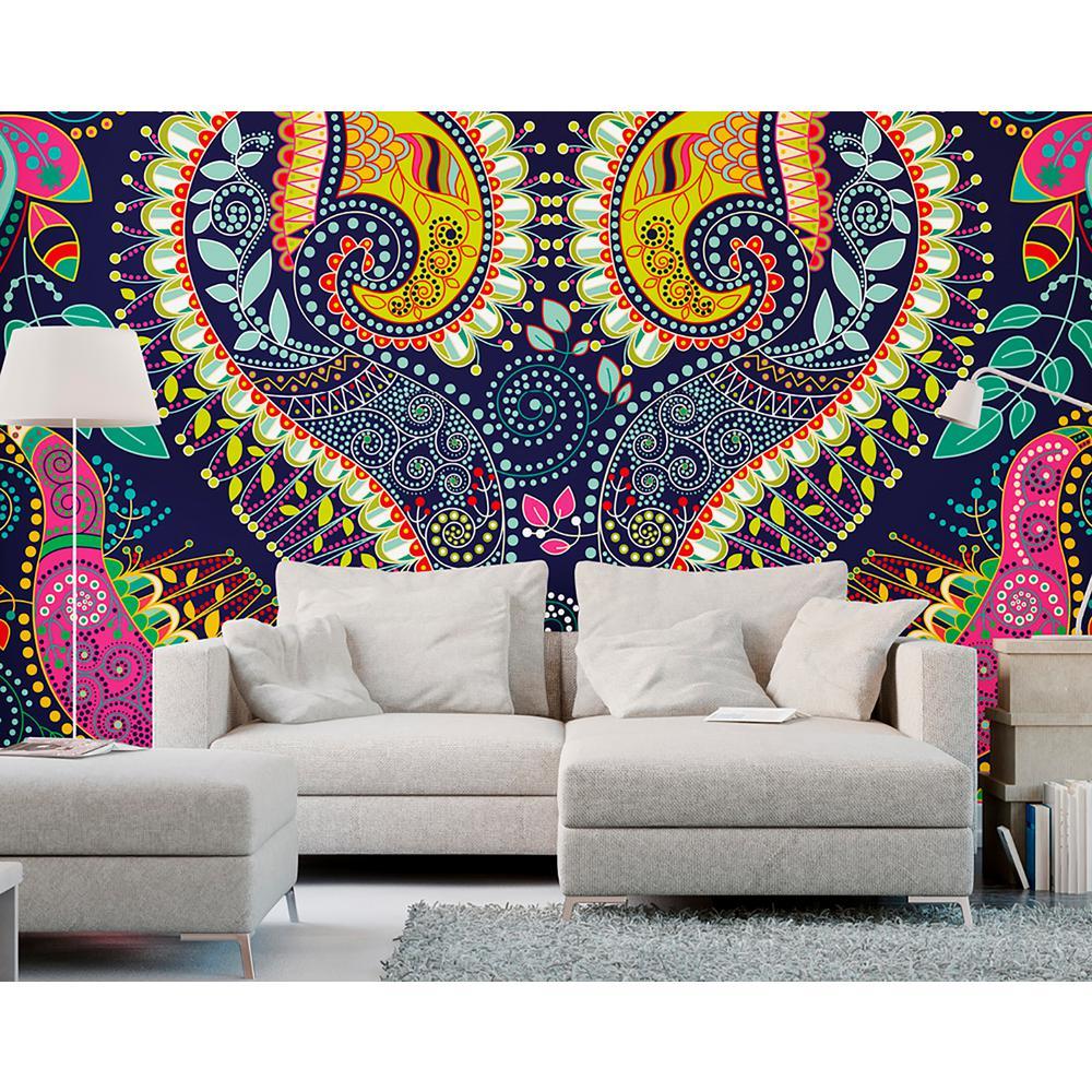 Bold Paisley Wall Mural