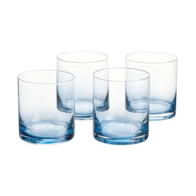Skylar 12.4 fl. oz. Midnight Blue Ombre Double Old-Fashioned Glasses (Set of 4)
