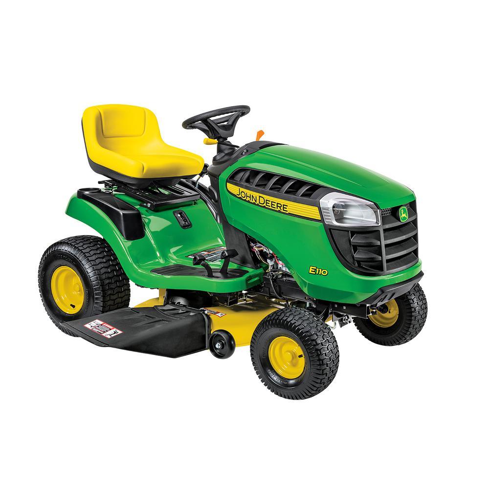 John Deere E110 42 inch 19 HP Gas Hydrostatic Lawn Tractor-California Compliant by John Deere