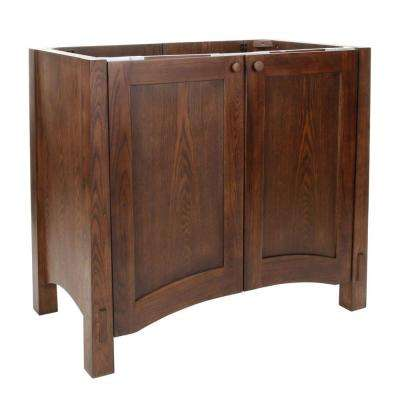 Westmore 37-1/2 in. W x 21-1/2 in. D x 33-1/2 in. H Vanity Cabinet Only in Westwood