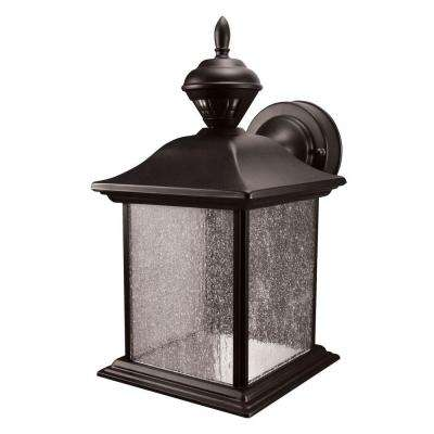 City Carriage 150 Degree Black Outdoor Motion Sensing Lantern