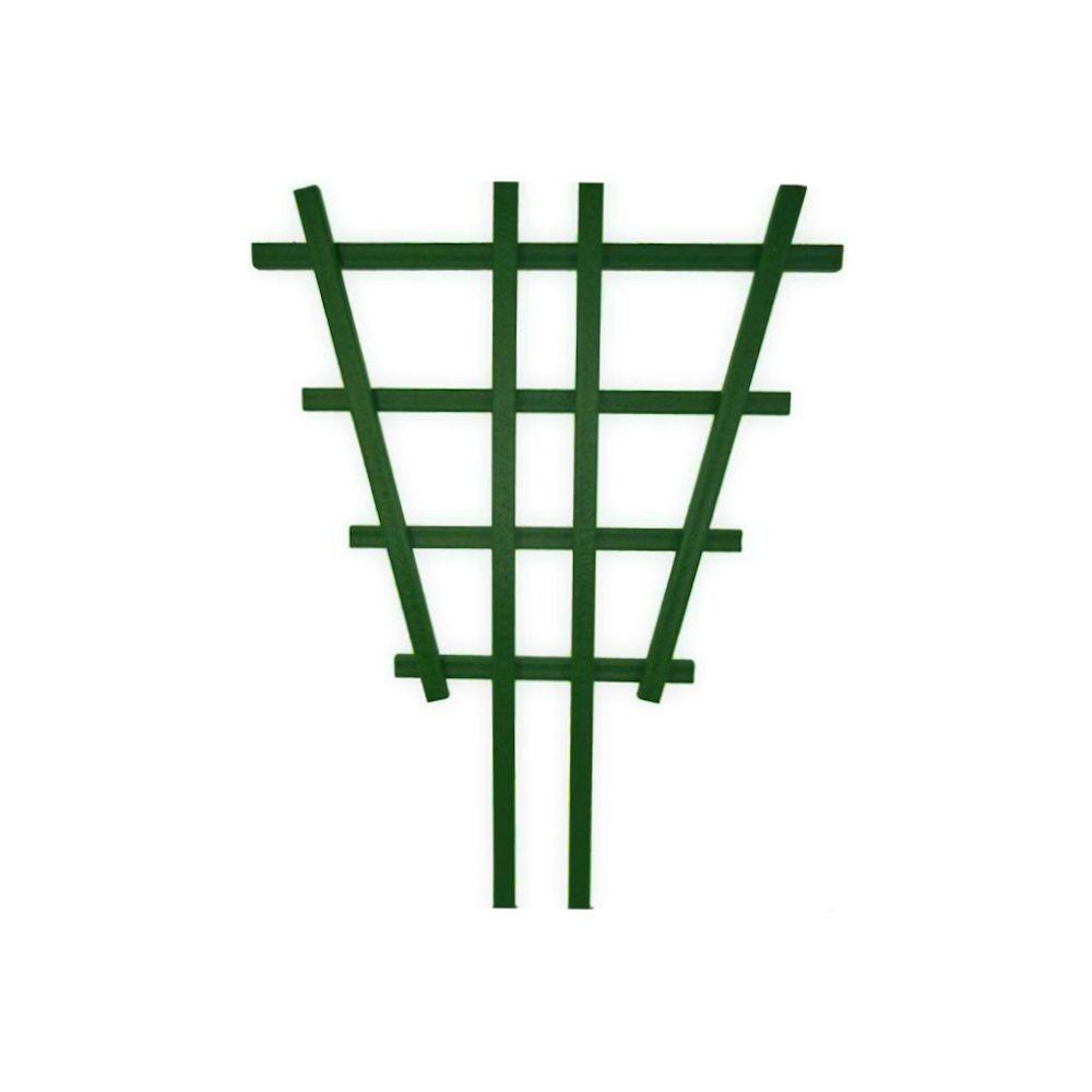 null 2 ft. Green Composite Barrel Trellis