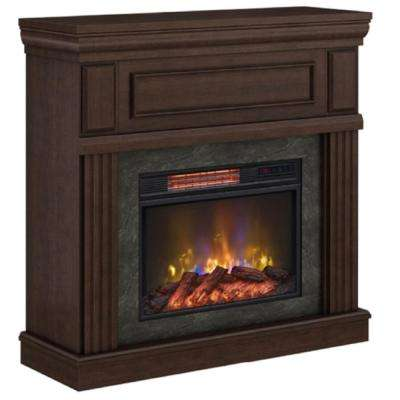 Grantley 40 in. Freestanding Electric Fireplace in Midnight Cherry