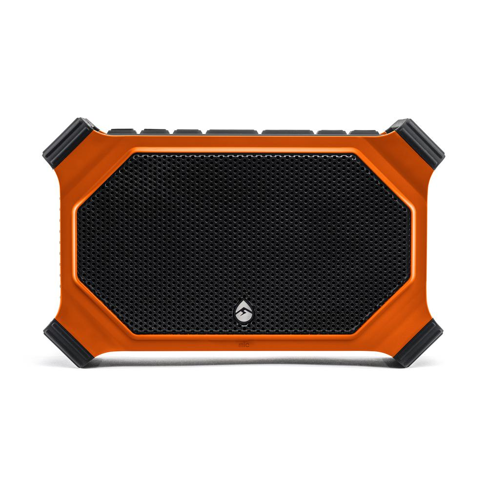 ECOSLATE Waterproof Bluetooth Speaker, Orange