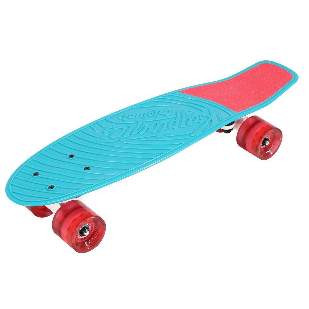 Kryptonics 22.5 in. Aqua Blue Originals Complete Skateboard