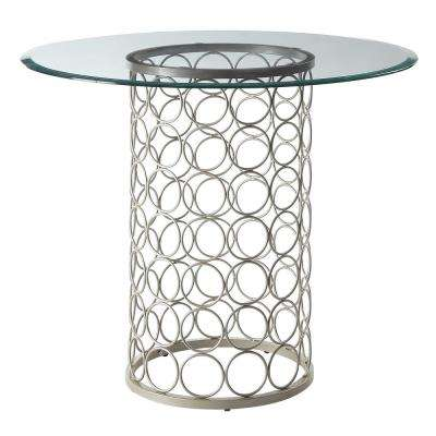 Tiffany Champagne 36 in. Round Dining Table