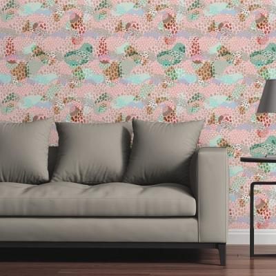 Abstract Spots Light by Circle Art Group Removable Wallpaper Panel