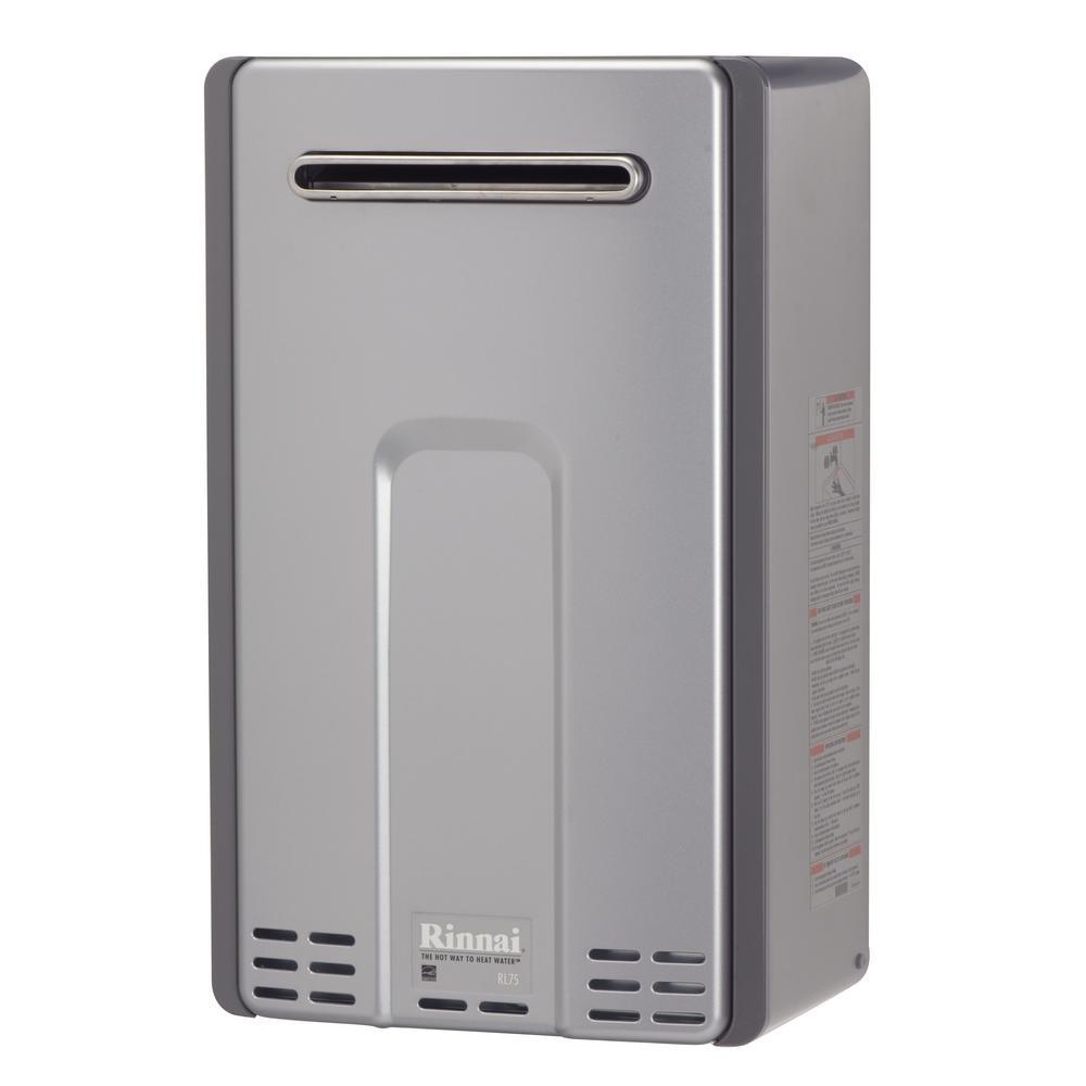 Rinnai High Efficiency Plus 75 GPM Residential 180000 BTU Natural Gas Exterior Tankless Water Heater