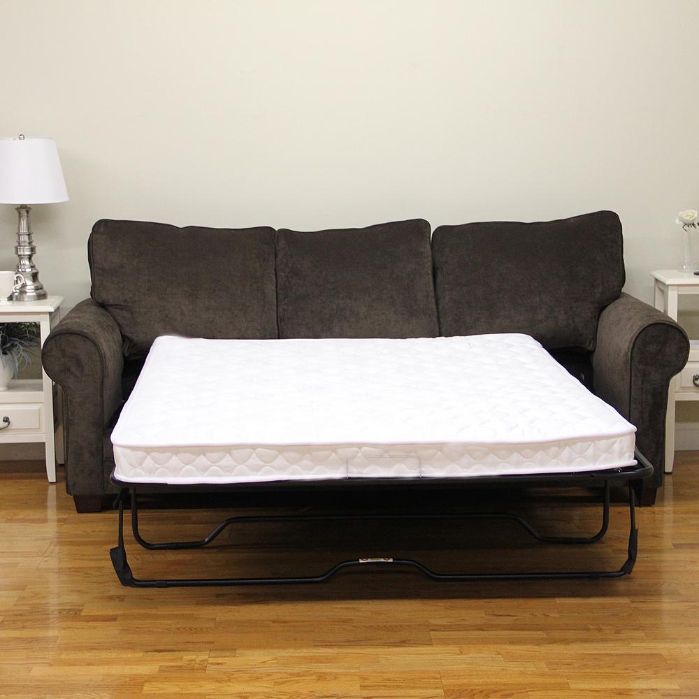 sleep options classic queen size innerspring 5 in sofa bed mattress rh homedepot com most comfortable sofa bed mattress good quality sofa bed mattress