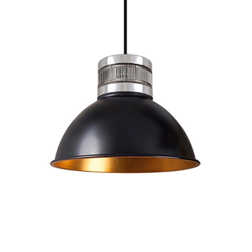 Kara 1-Light 40-Watt Equivalence Black Integrated LED Pendant