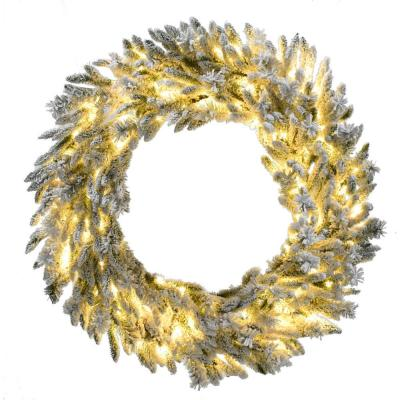 36 in. Pre-Lit Wreath Arrangement with Pinecones