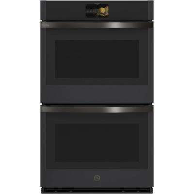 Profile 30 in. Double Electric Wall Oven with Convection Self-Cleaning in Black Slate, Fingerprint Resistant