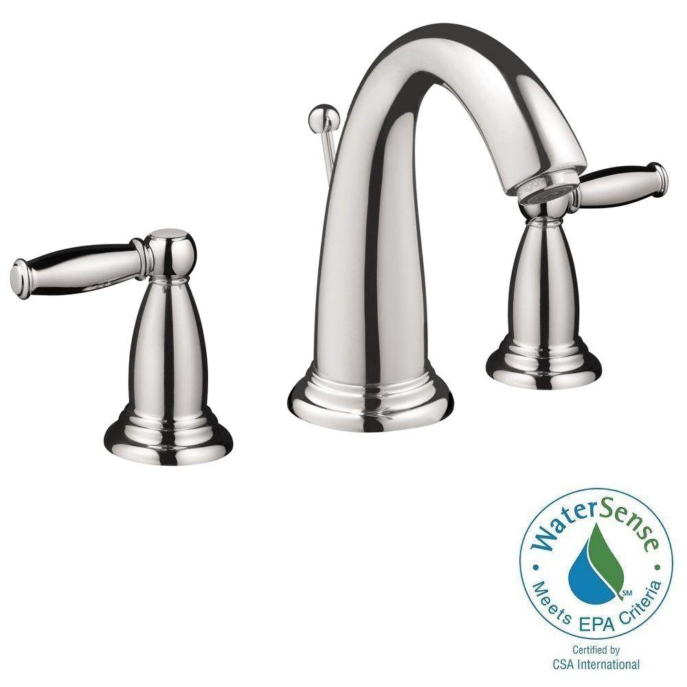 Swing C 8 in. Widespread 2-Handle Mid-Arc Bathroom Faucet in Chrome