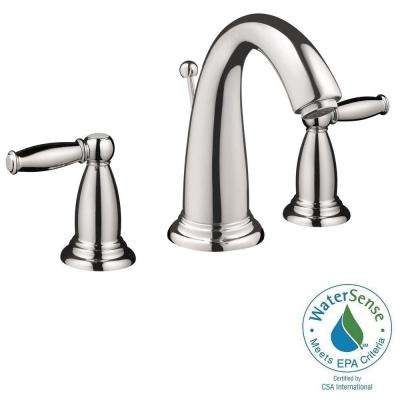 Swing C 8 in. Widespread 2-Handle Mid-Arc Bathroom Faucet in Chrome with Lever Handles