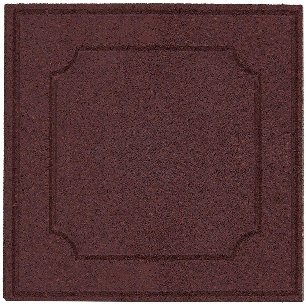 Envirotile 18 in. x 18 in. Terra Cotta Rubber Provincial Paver-DISCONTINUED