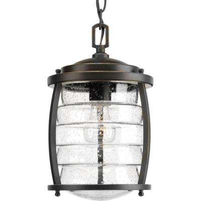 Signal Bay Collection 1-Light Outdoor Oil-Rubbed Bronze Hanging Lantern
