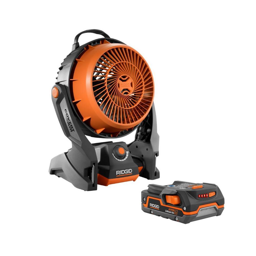 RIDGID 18-Volt Cordless Hybrid Fan w/1.5 Ah Battery Deals