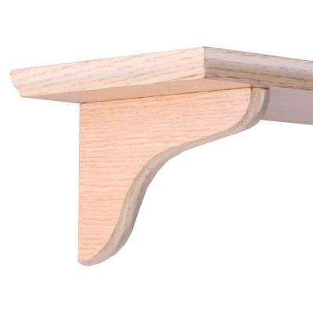 7 in. Oak Wood Decorative Shelf Corbel