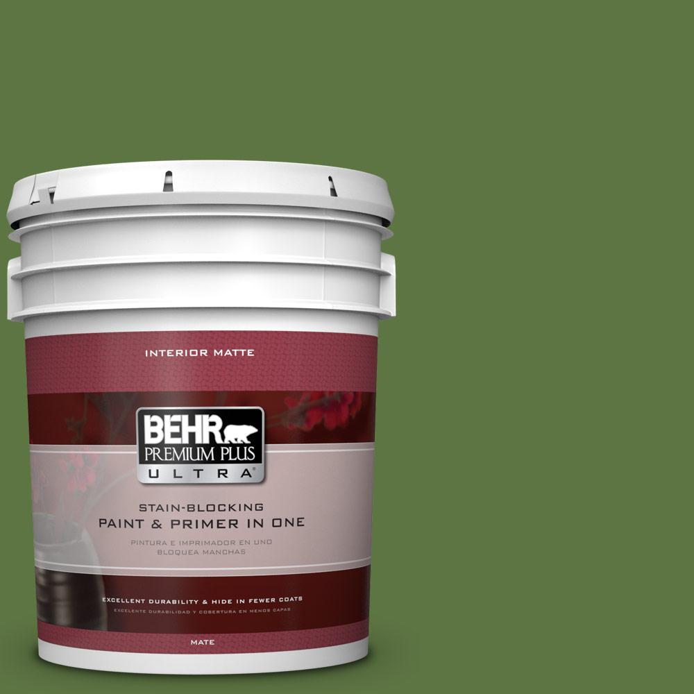 5 gal. #420D-7 Dill Pickle Flat/Matte Interior Paint