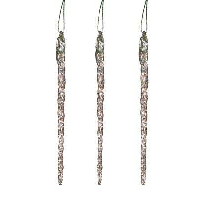S/3 20-Pack 4.9 in. Icicle Ornaments