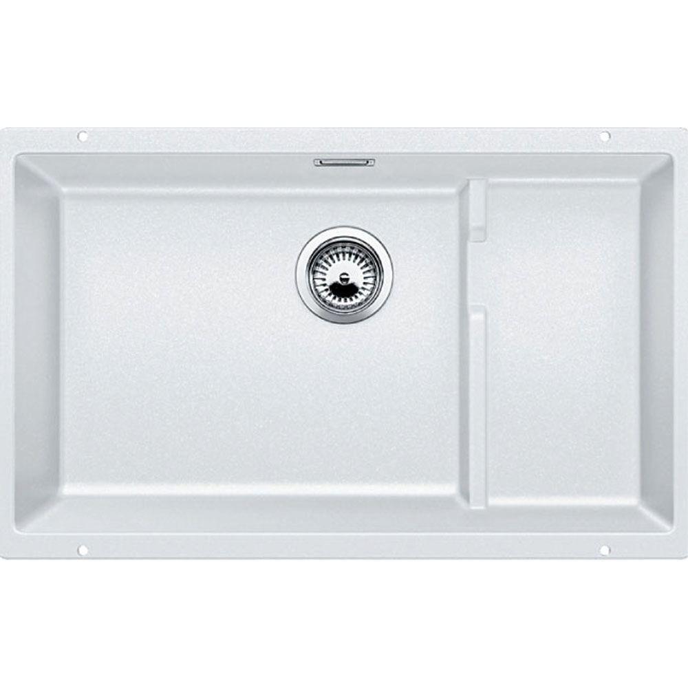 PRECIS Cascade Undermount Granite Composite 29 in. Single Bowl Kitchen Sink in White