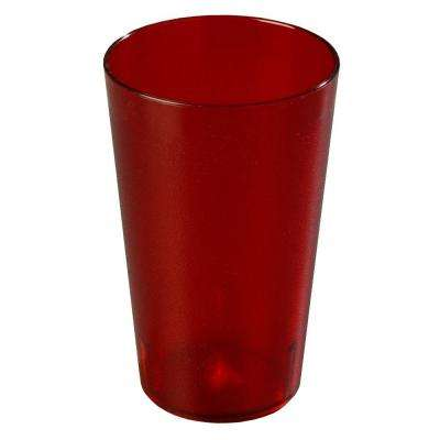 32 oz. SAN Plastic Stackable Tumbler in Ruby (Case of 48)