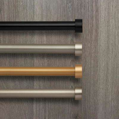 Elrene Serena 86 in. - 120 in. Telescoping Window Curtain Rod and Finial in Soft Gold