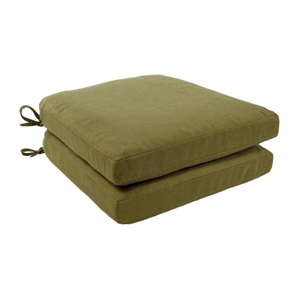 Hampton Nay 18 X 18 Accent Chair: Hampton Bay 18 X 18 Green Bean Replacement Cushion For The