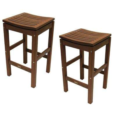 Eucalyptus Patio Pub Height Stool (Set of 2)