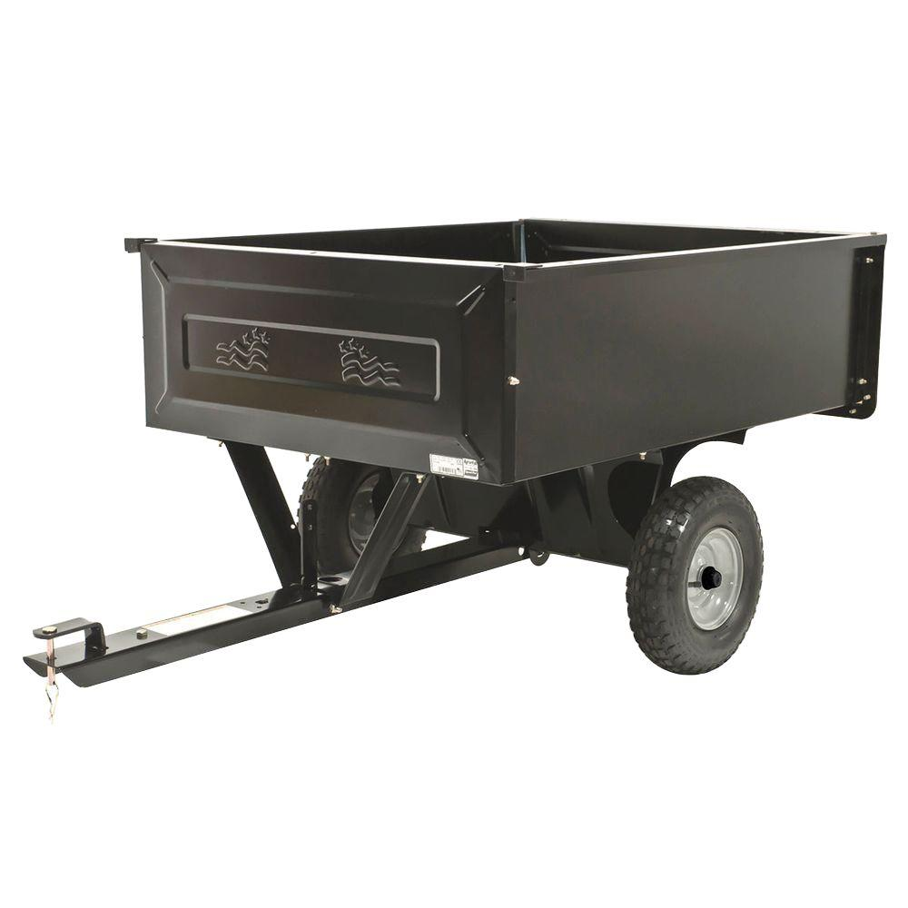 Electric Heavy Duty Steel Dump Cart Not Lossing Wiring Diagram Hydraulic Spreader Agri Fab 10 Cu Ft 45 0303 The Home Depot Rh Homedepot Com Wagon Carts