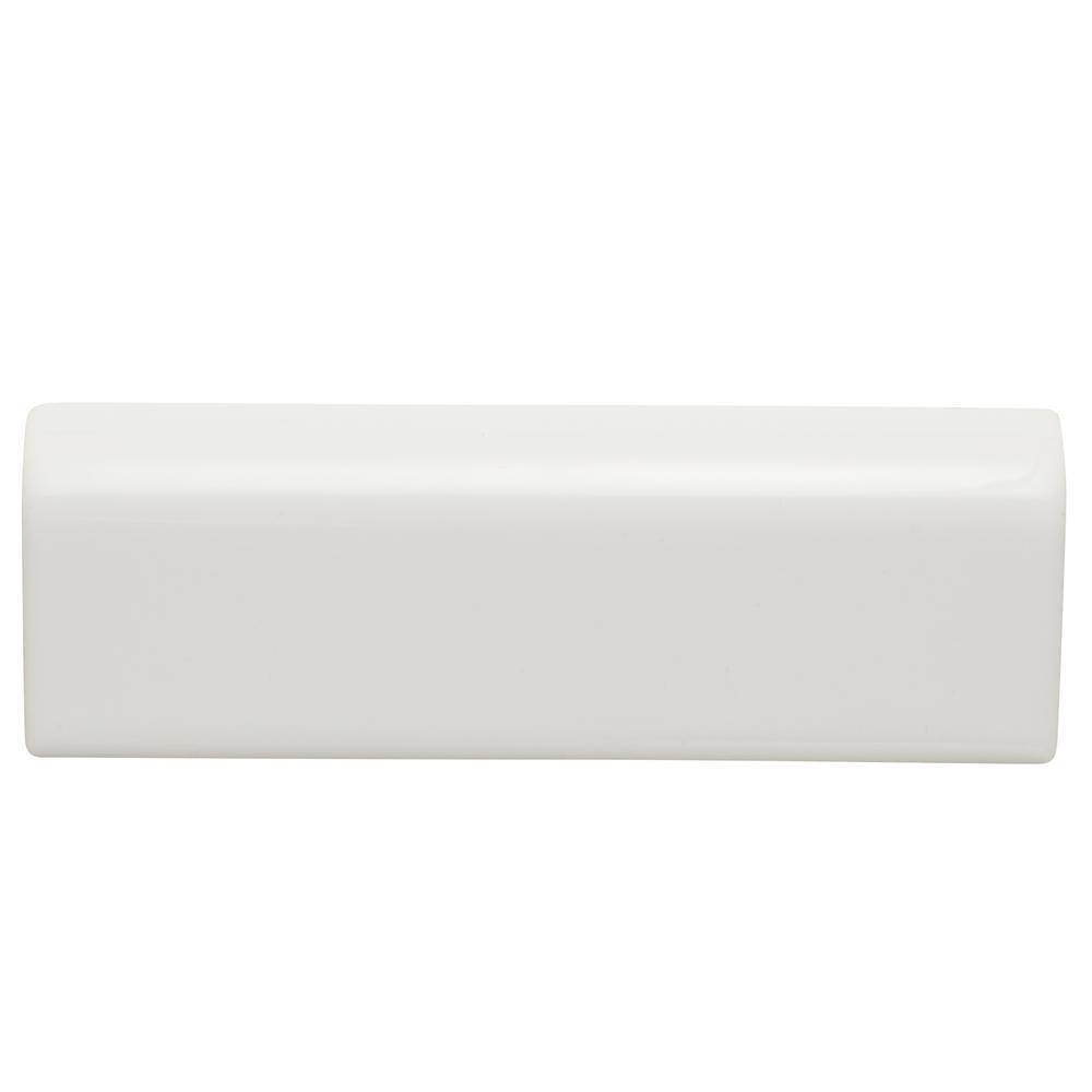 Daltile Re Bright White 2 In X 6 Ceramic Radius Bullnose Wall Trim