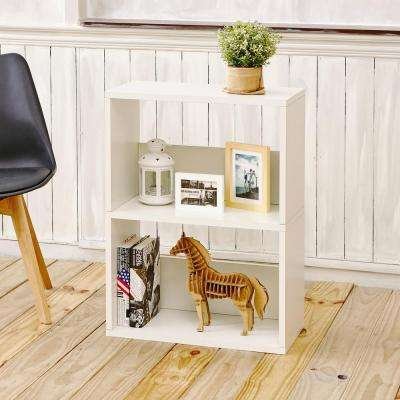 Duplex Eco zBoard Tool Free Assembly White Open Bookcase