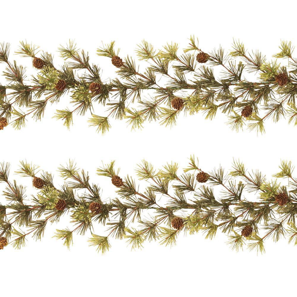 S/2 9 ft. L Ming Pine Garlands