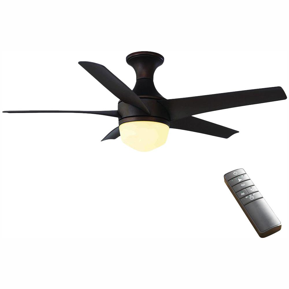 Home Decorators Collection Tuxford 44 in. LED Indoor Mediterranean Bronze Ceiling Fan with Light Kit and Remote Control
