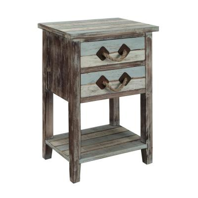 Islander Multicolor 2-Drawer Accent Table