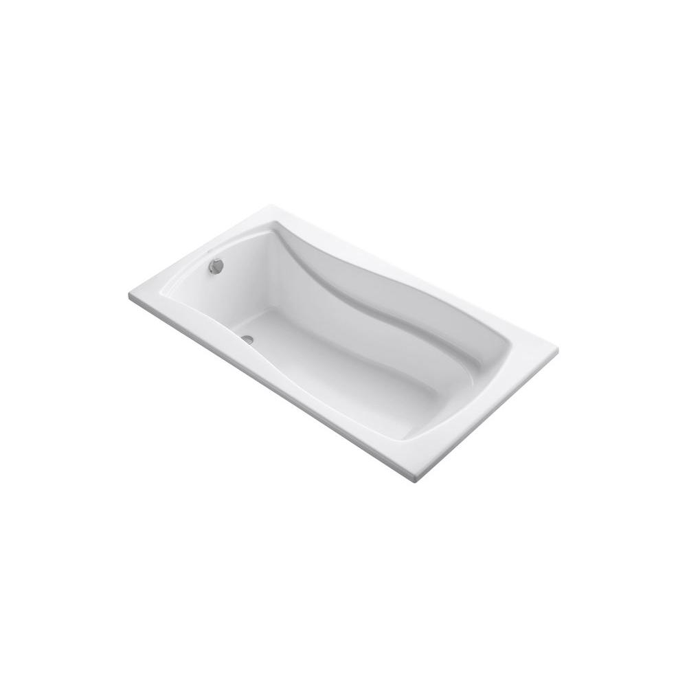KOHLER Mariposa 5.5 ft. Reversible Drain Drop-In Acrylic Soaking Tub ...