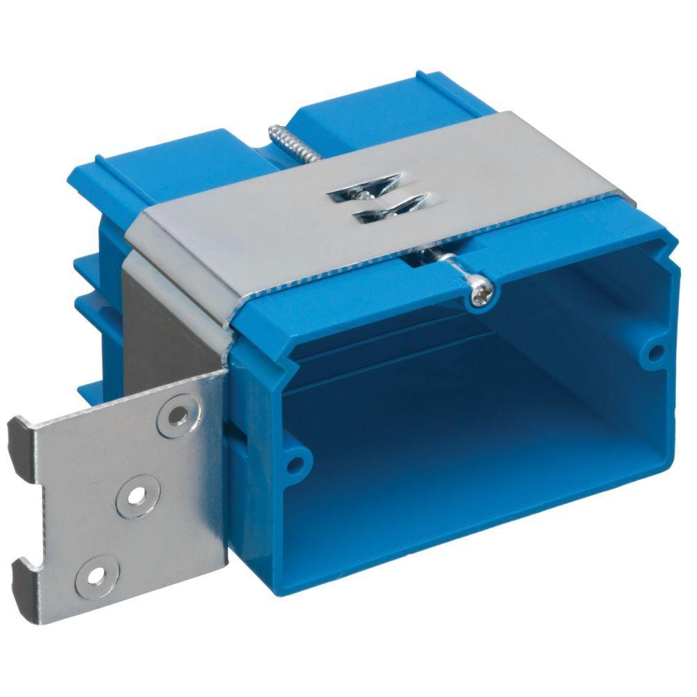 Gang cu in pvc adjustable wall box horizontal mount