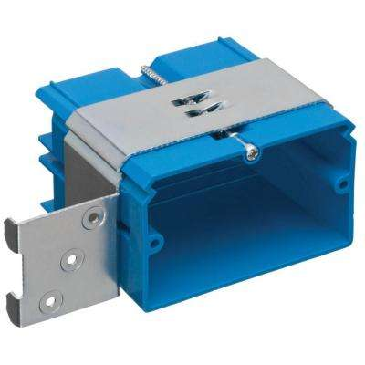 1-Gang 22 cu. in. PVC Adjustable Wall Box Horizontal Mount