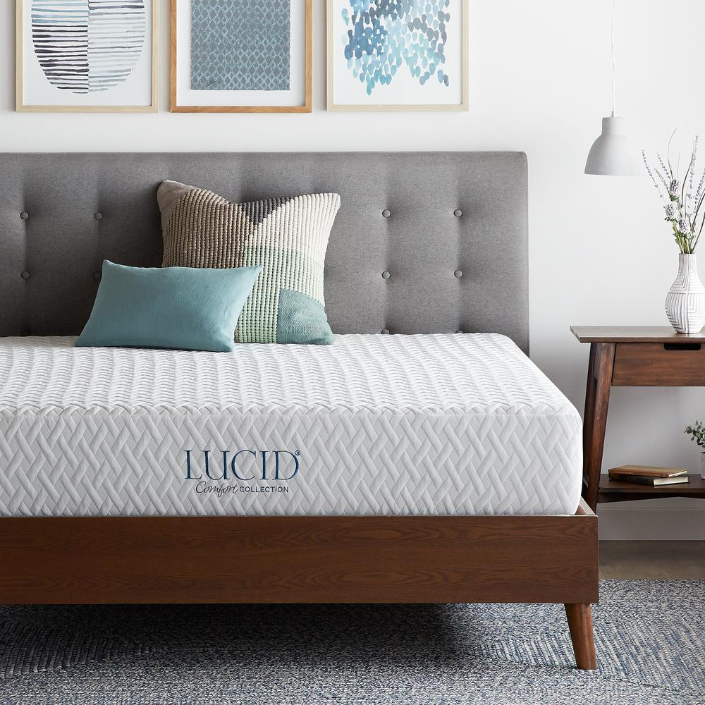 Lucid Comfort Collection 10in. Plush Gel Memory Foam Tight Top Twin XL Mattress