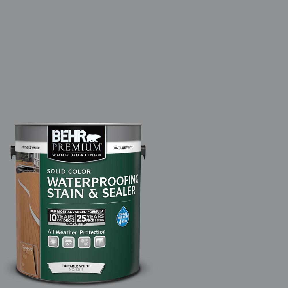 behr premium 1 gal st 365 cape cod gray semi transparent waterproofing stain and sealer 507701. Black Bedroom Furniture Sets. Home Design Ideas