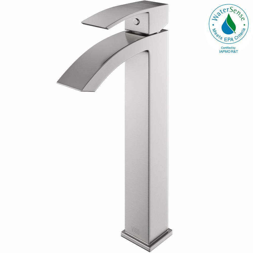 vigo bathroom faucets. VIGO Single Hole Single-Handle Vessel Bathroom Faucet In Brushed Nickel Vigo Faucets A