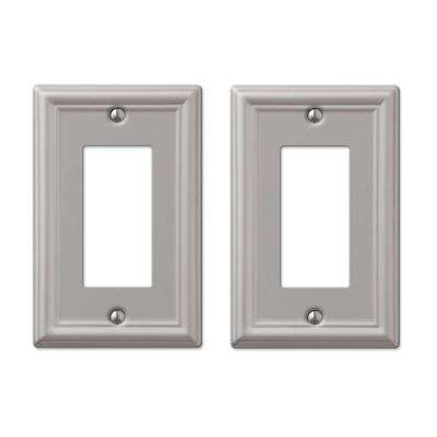 Ascher 1 Decora Wall Plate in Brushed Nickel Steel (2-Pack)