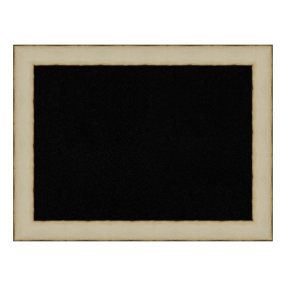Rusted Cream Framed Black Cork Memo Board