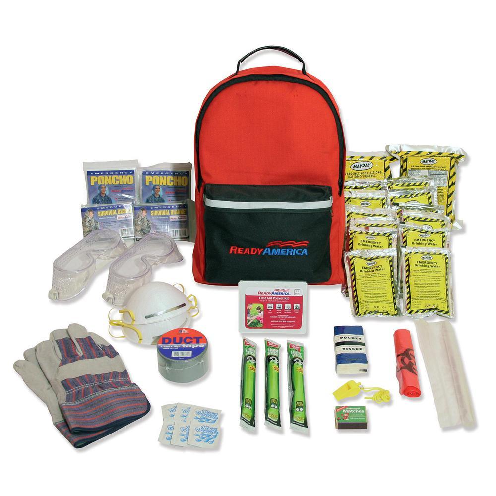Ready America 2-Person 3-Day Hurricane Emergency Kit Backpack